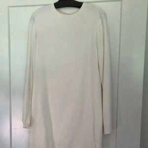 Helmut Lang white long sleeve minidress